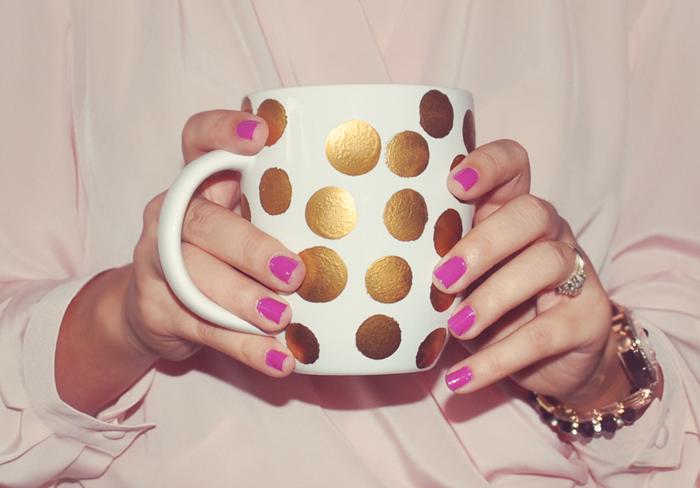 DIY Polka Dot Mug
