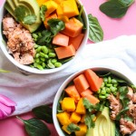 Tropical Spinach Salad with Roasted Salmon - The Blog Societies