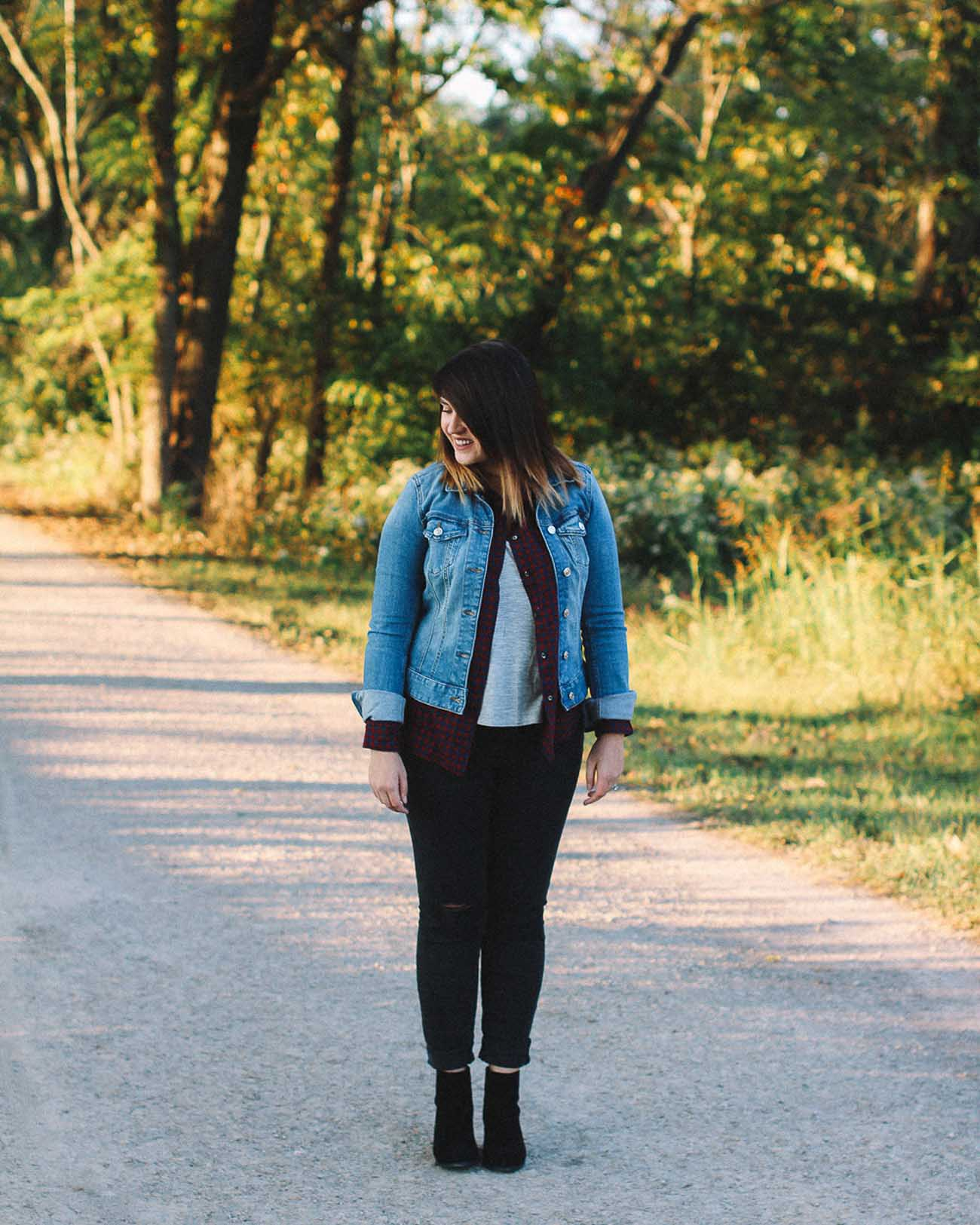 fall layered outfit ideas with plaid - the blog societies