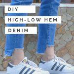 High-Low Frayed Denim Hem - The Blog Societies