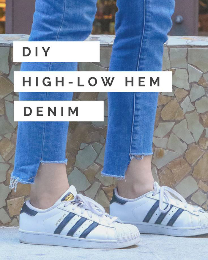 High-Low Frayed Denim Hem - The Blog Societies