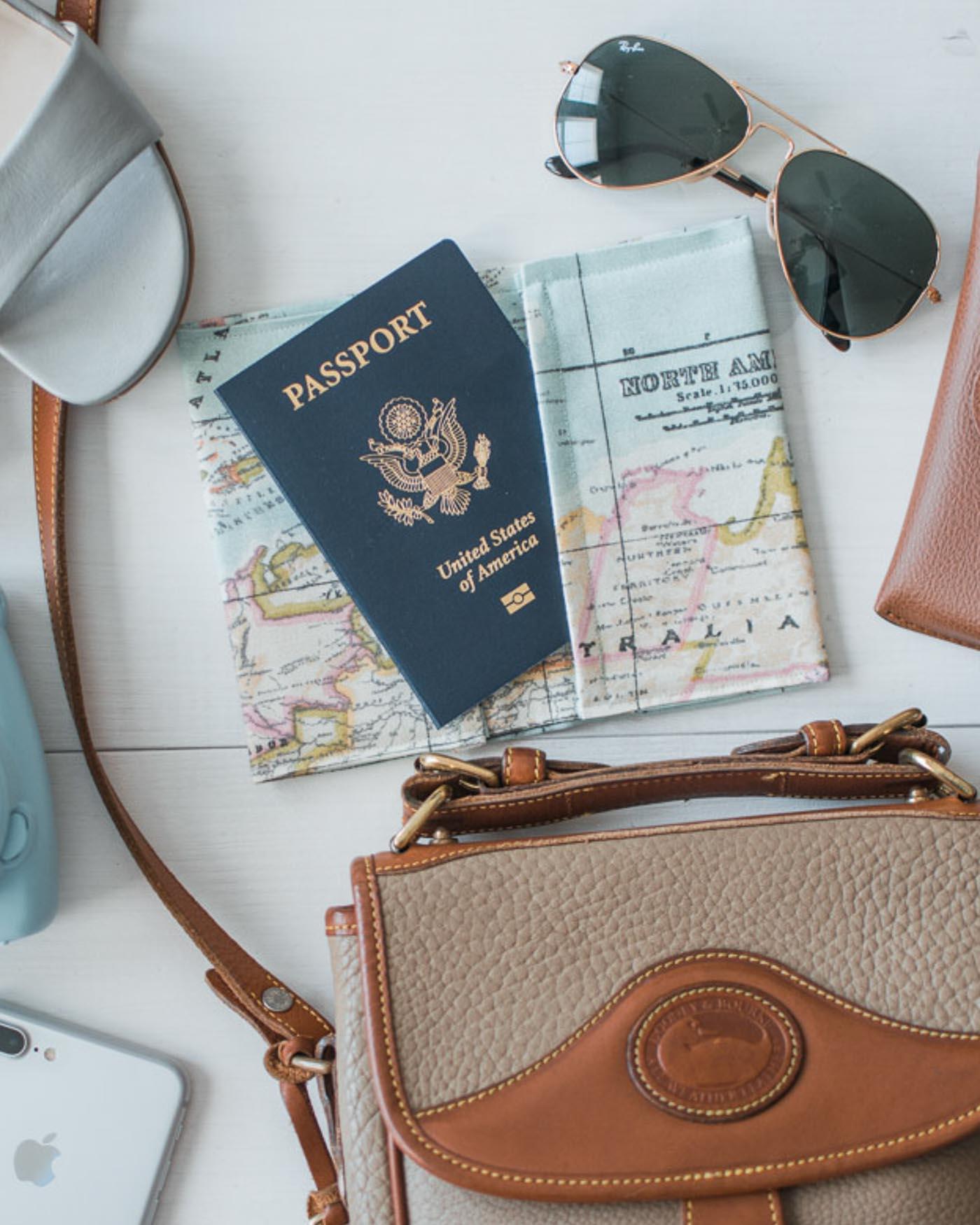 diy passport holder tutorial