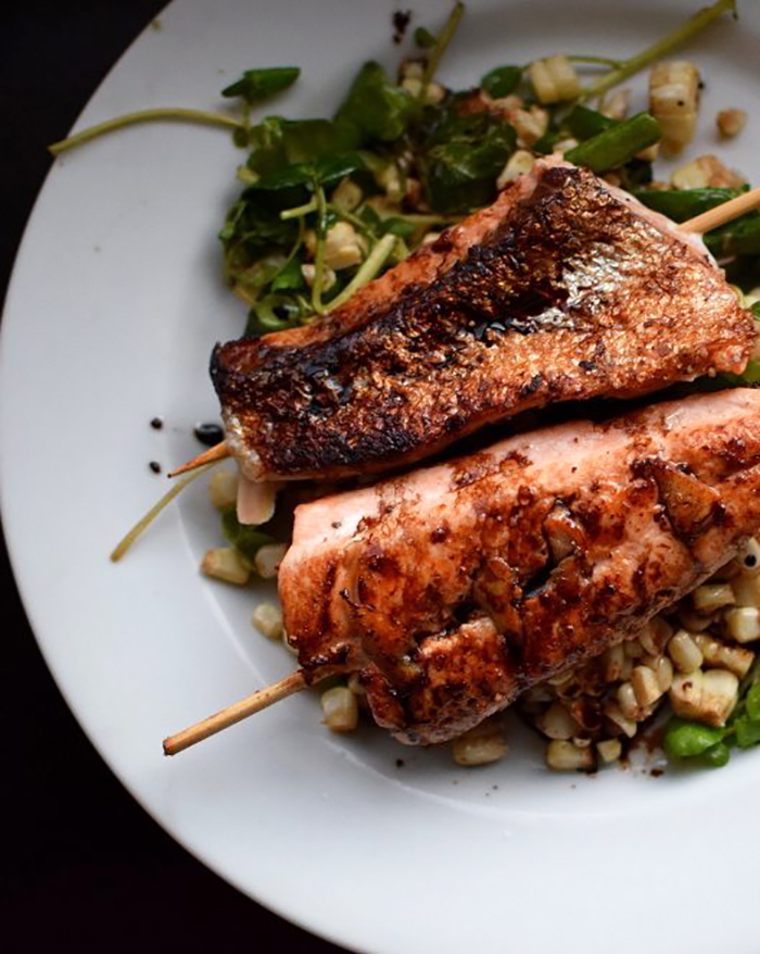 Ginger Roasted Salmon with Grilled Corn - The Blog Societies