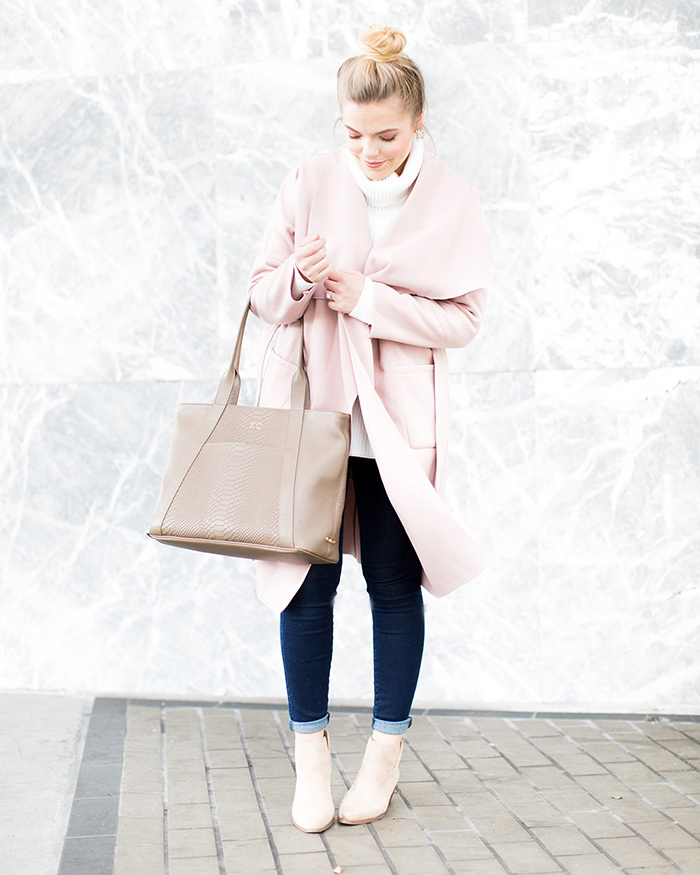 Pale Pink Wrap Jacket - The Blog Societies
