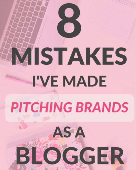 8 Mistakes I've Made Pitching Brands