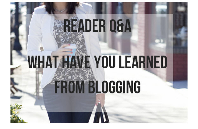 Reader Q and A  - what I've learned from blogging