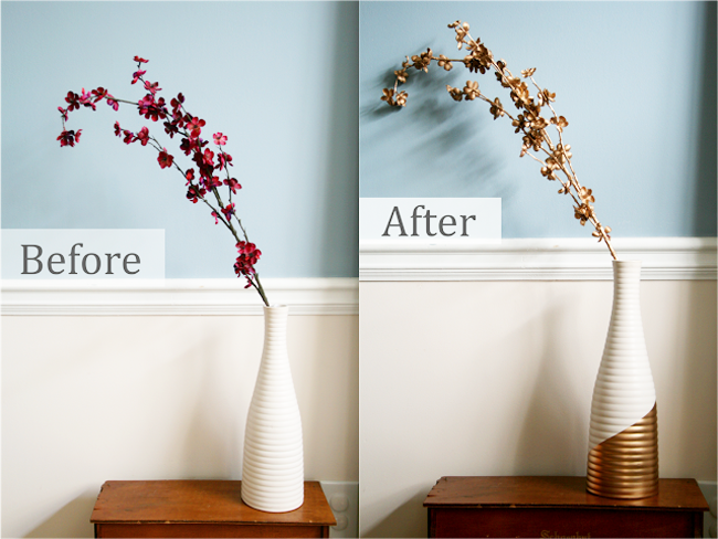 Diyhow To Gold Dipped Vase And Flowers The Blog Societies
