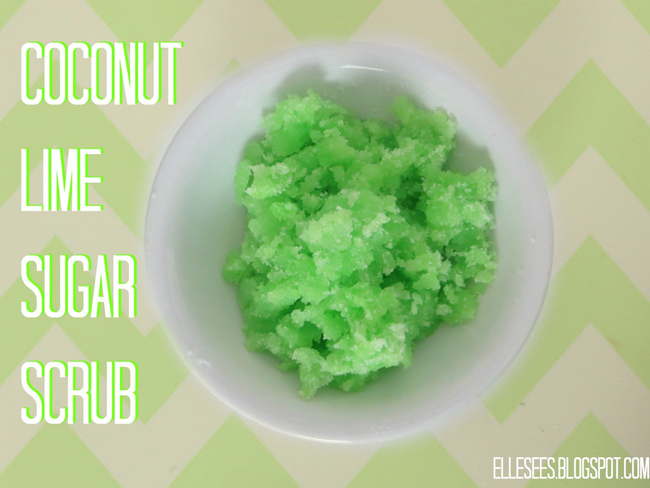 coconut lime diy scrub