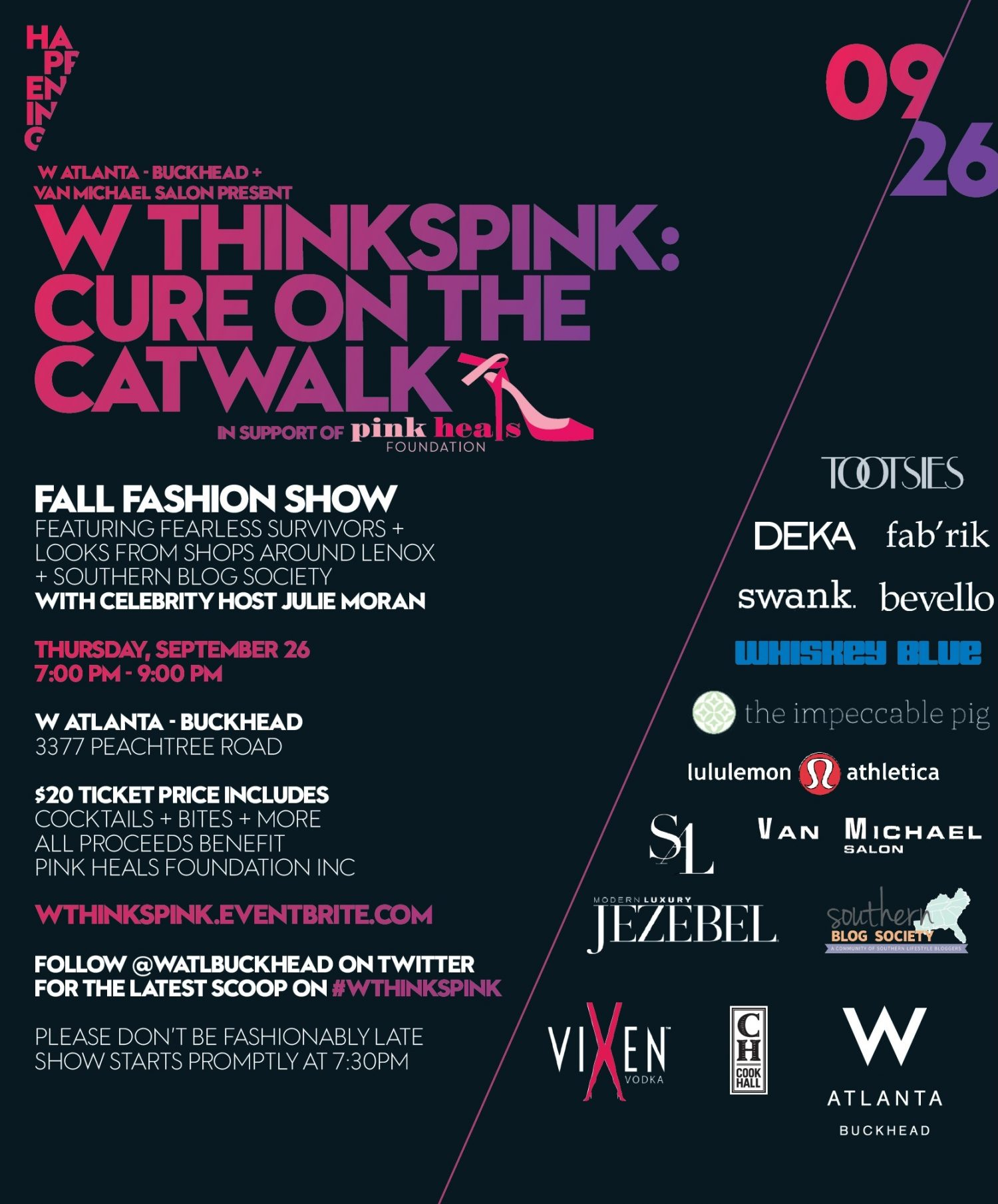 W ThinksPINK - Cure on the Catwalk - Final Invitation