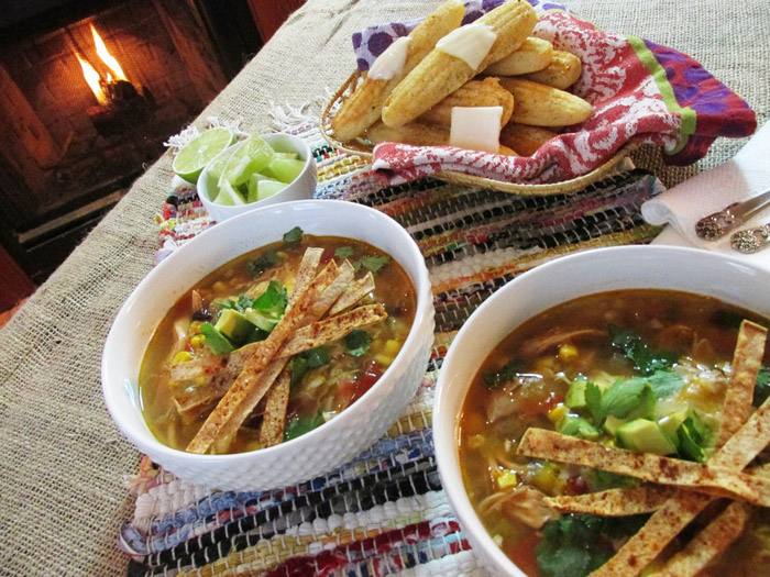 tortilla soup and pork burgers 034