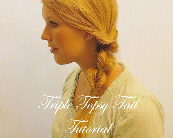 Triple Topsy Tail Tutorial