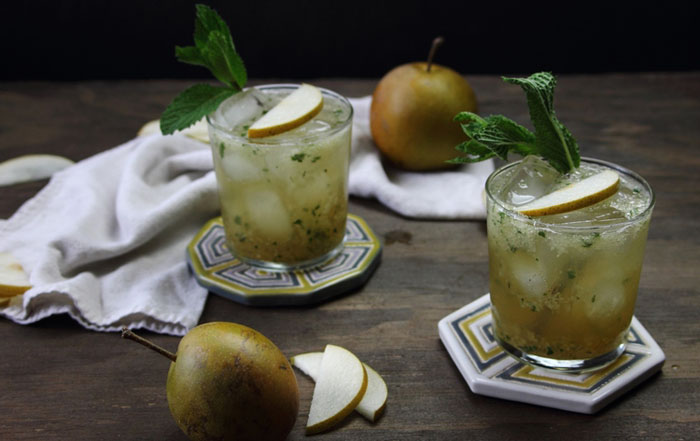 Asian Pear and Mint Bourbon Sparkler- My Diary of Us