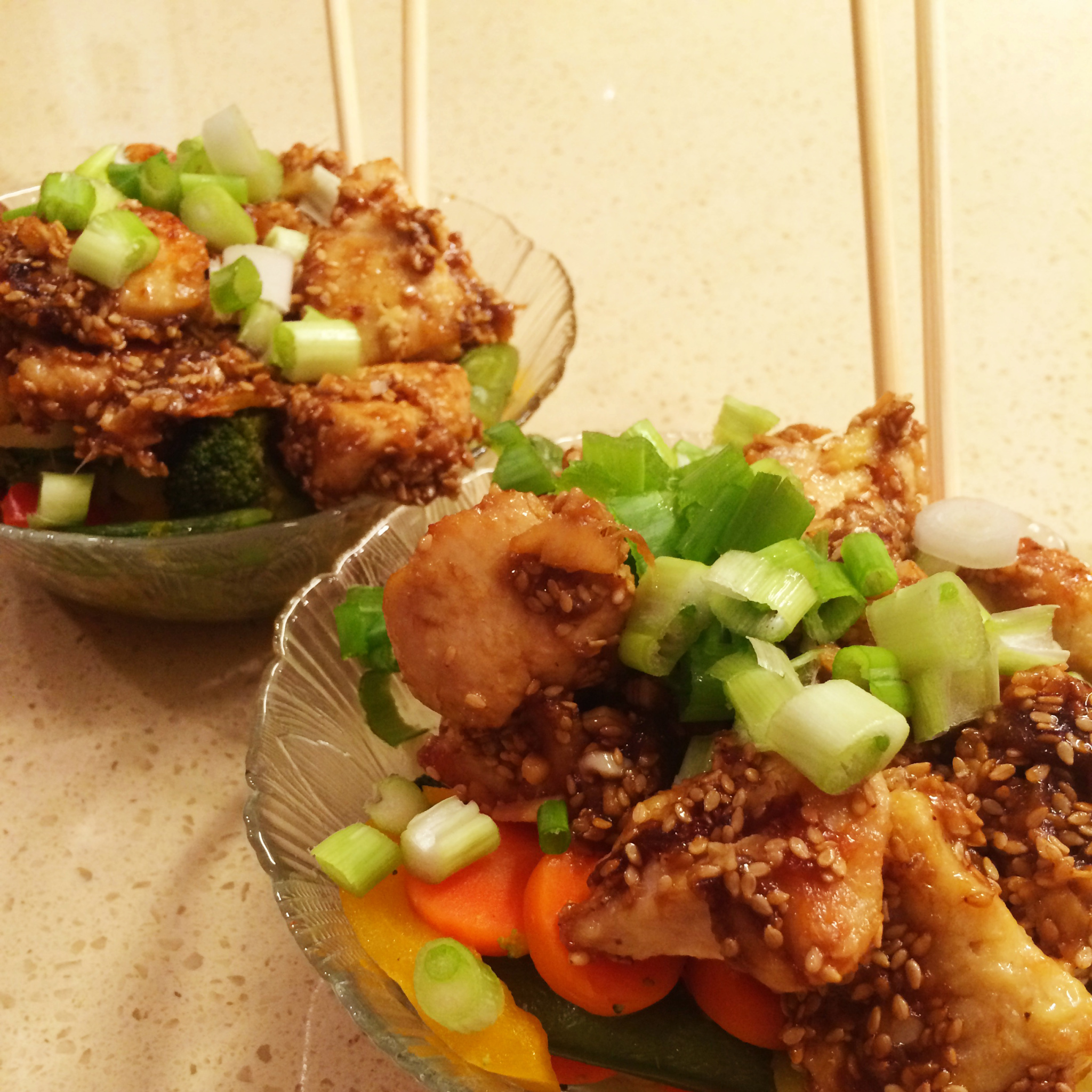 recipe for baked sesame chicken