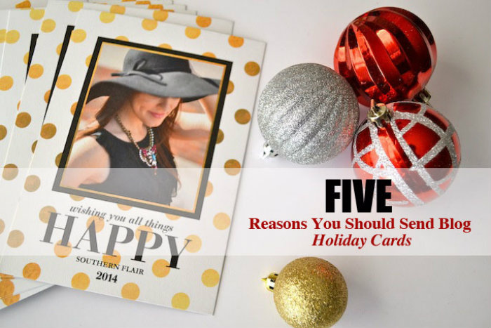 5 reasons to send holiday cards as a blogger