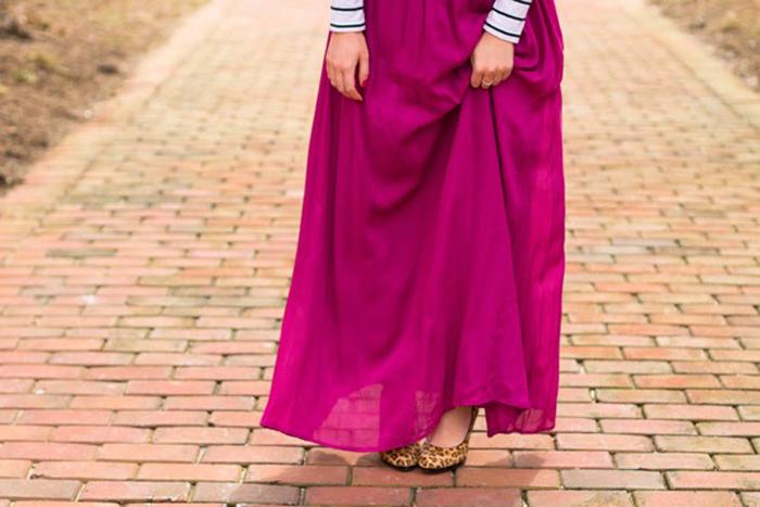 Southern Blog Society - Maroon Maxi Skirt