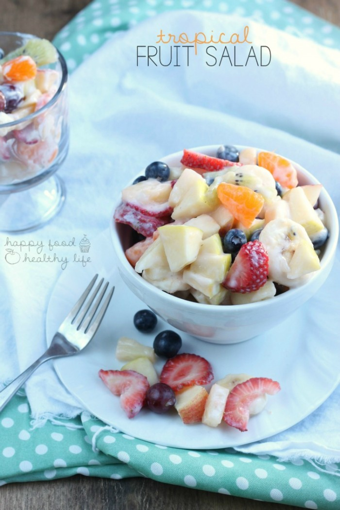 Happy Food Healthy Life Tropical Fruit Salad via @TheSWSociety