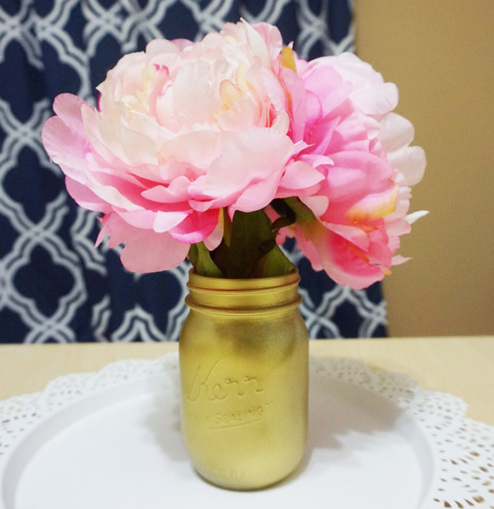 Southern Blog Society - DIY Colored Mason Jars