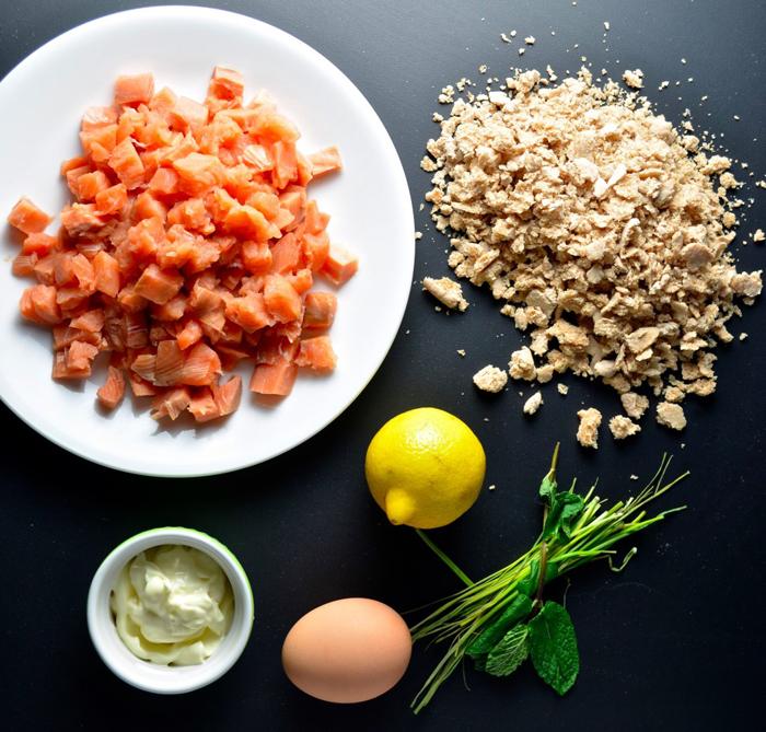 Southern Blog Society - Mediterranean Salmon Burger