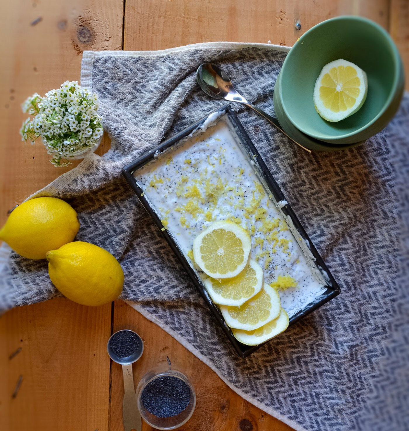 coconut lemon poppyseed sorbet recipe