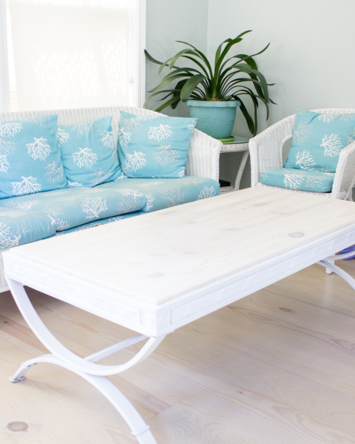 Thrift Store Coffee Table Hack - The Blog Societies