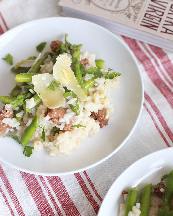 Italian Sausage and Asparagus Risotto - The Blog Societies
