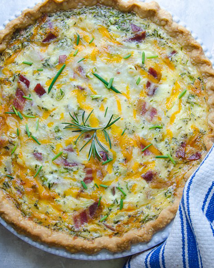 Loaded Baked Potato Quiche - The Blog Societies