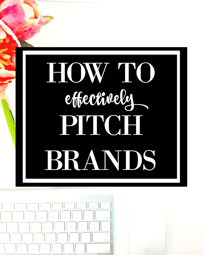 How To Effectively Pitch Brands - The Blog Societies