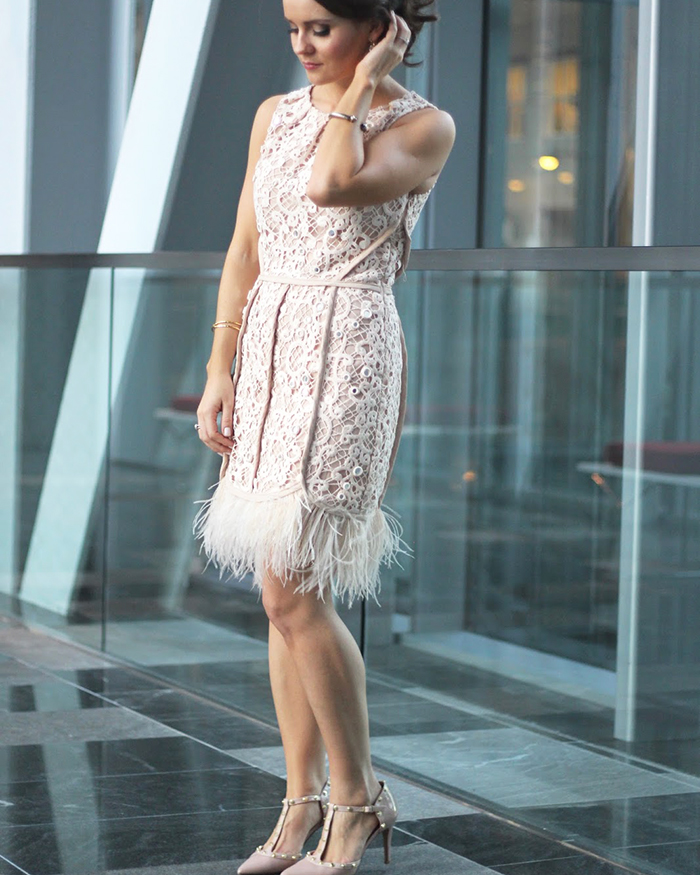 Blush Feather Dress - The Blog Societies