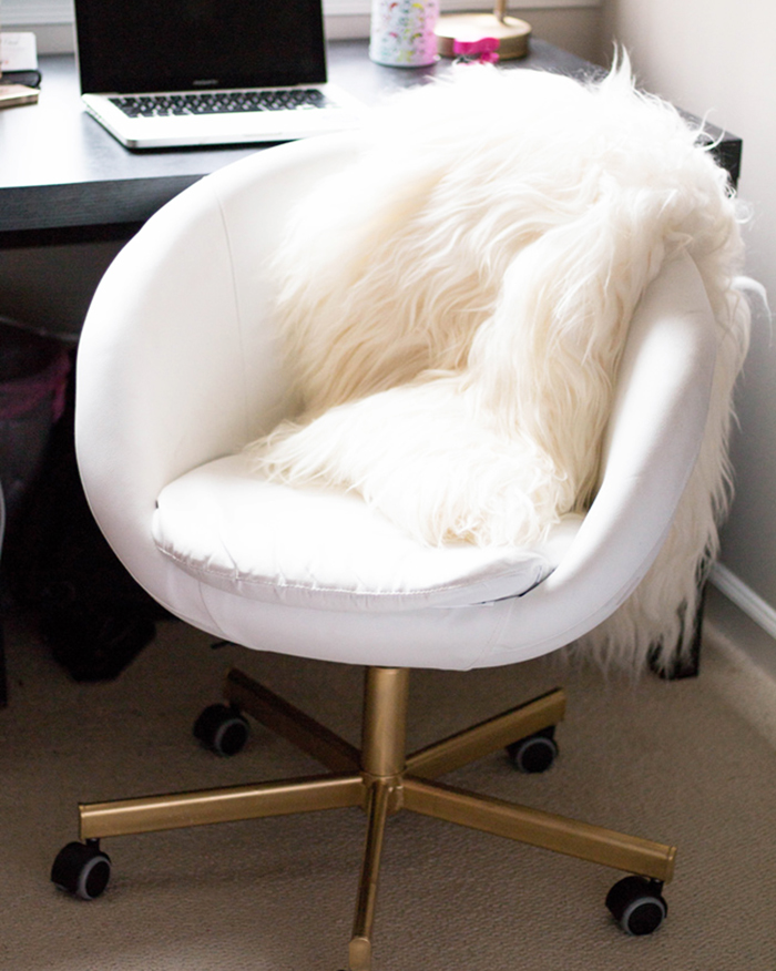 The Blog Societies - Gold Office Chair