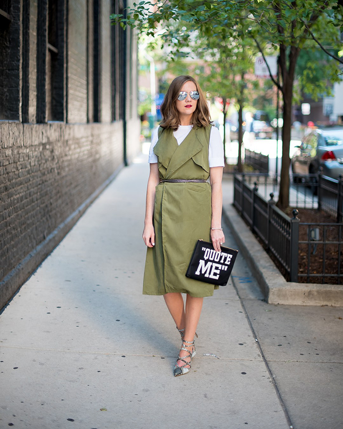 The Blog Societies - How To Wear a Trench Vest As A Dress