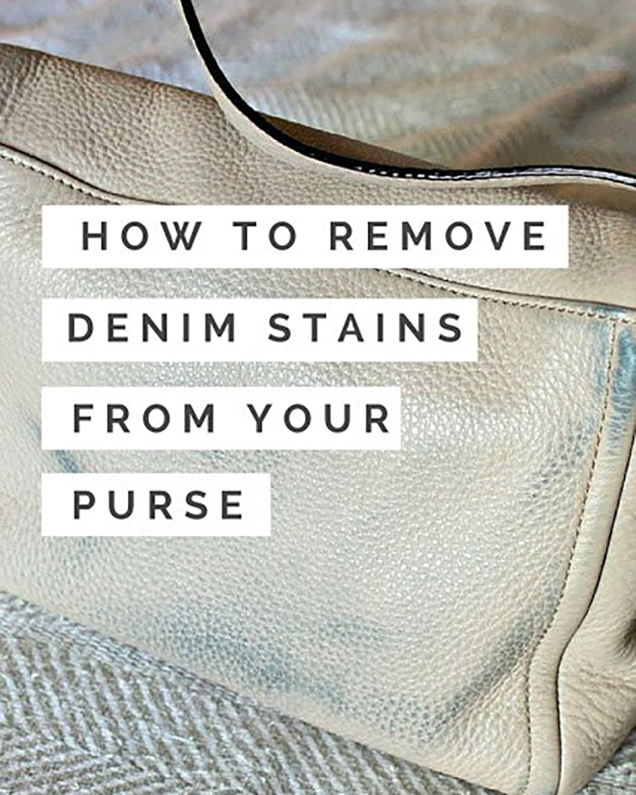 The Blog Societies - How To Remove Denim Stains From Your Purse