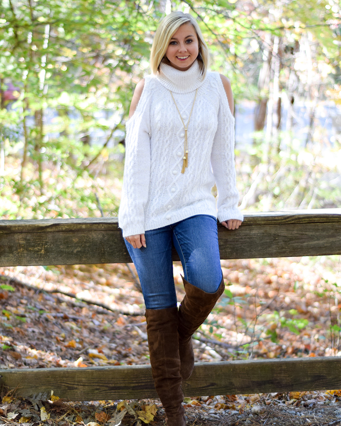 Cold Shoulder Sweater - The Blog Societies