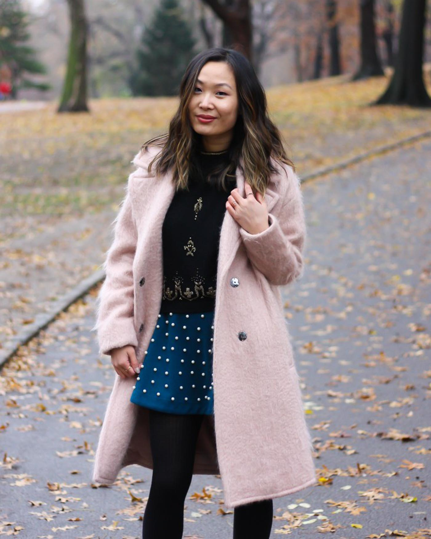 blush pink coat for winter - The Blog Societies