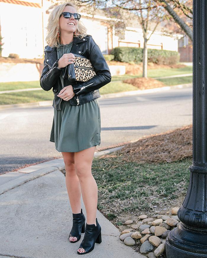 Moto Jacket and Slip Dress - The Blog Societies