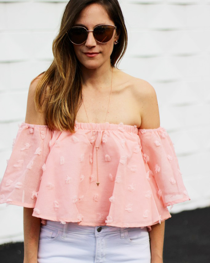 Pink Off The Shoulder Top - The Blog Societies