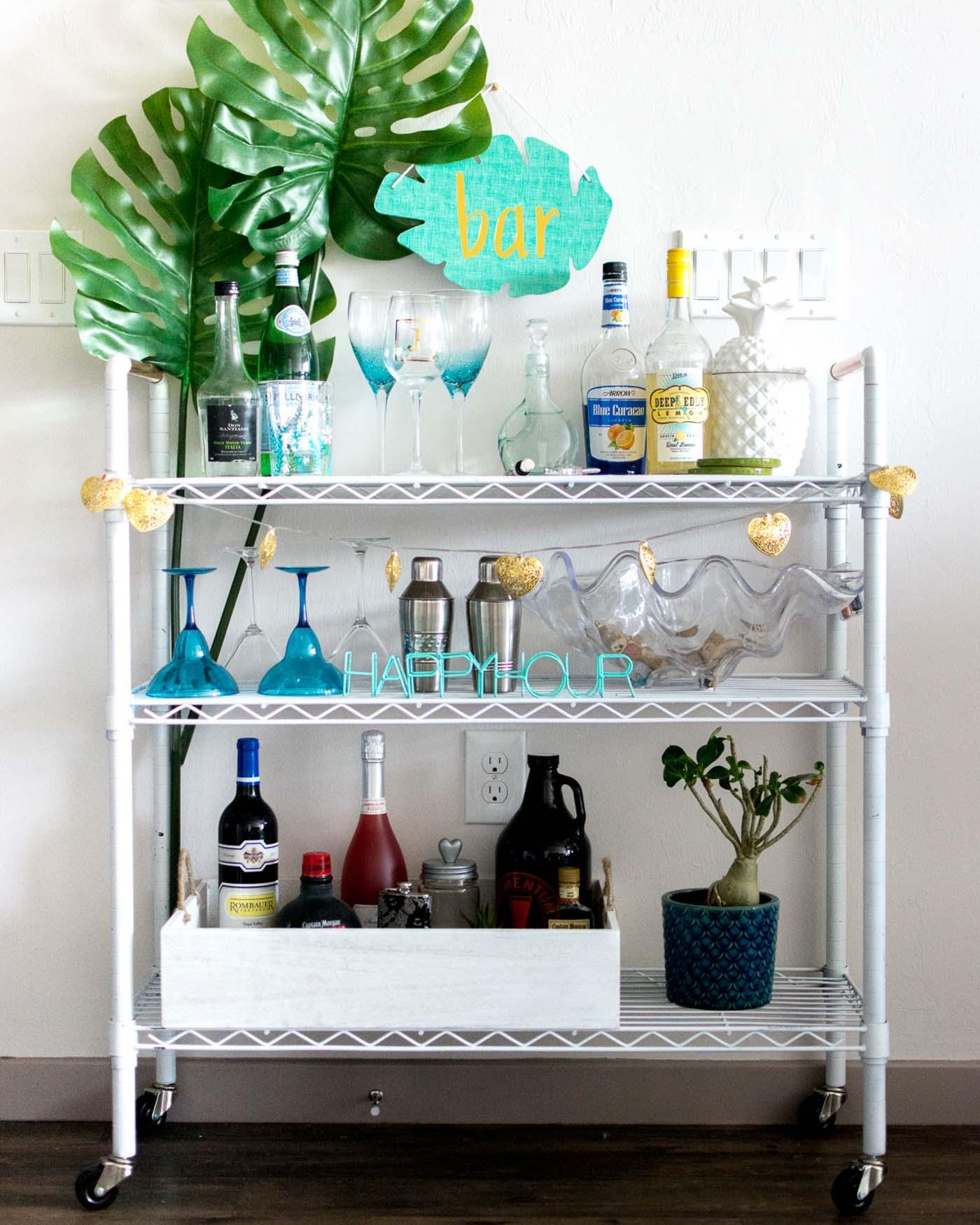 diy bar cart under 100 the blog societies. Black Bedroom Furniture Sets. Home Design Ideas