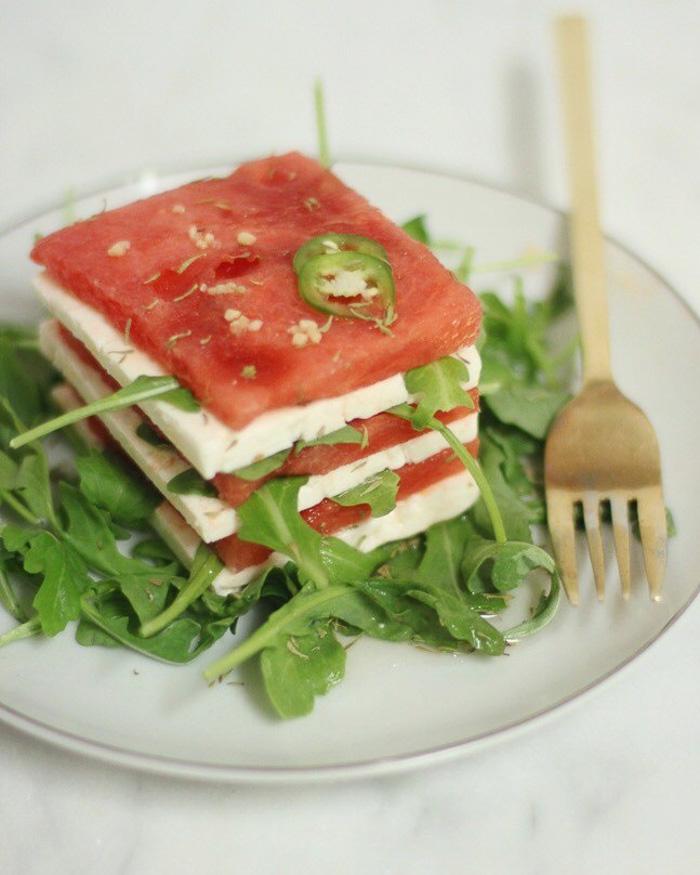watermelon feta salad recipe - The Blog Societies