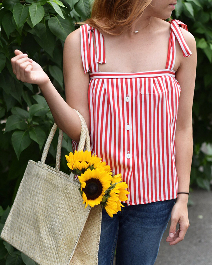 Tie Strap Top Upcycle DIY - The Blog Societies