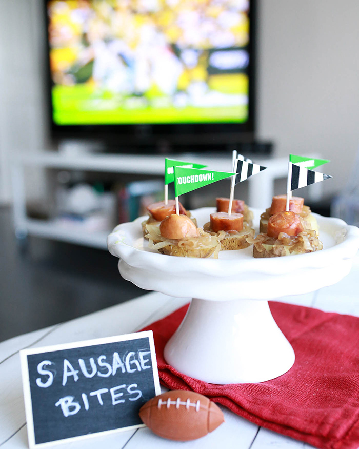 Sausage Bites For Game Day - The Blog Societies