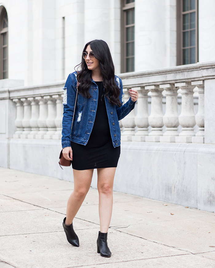 Distressed Denim Jacket - The Blog Societies