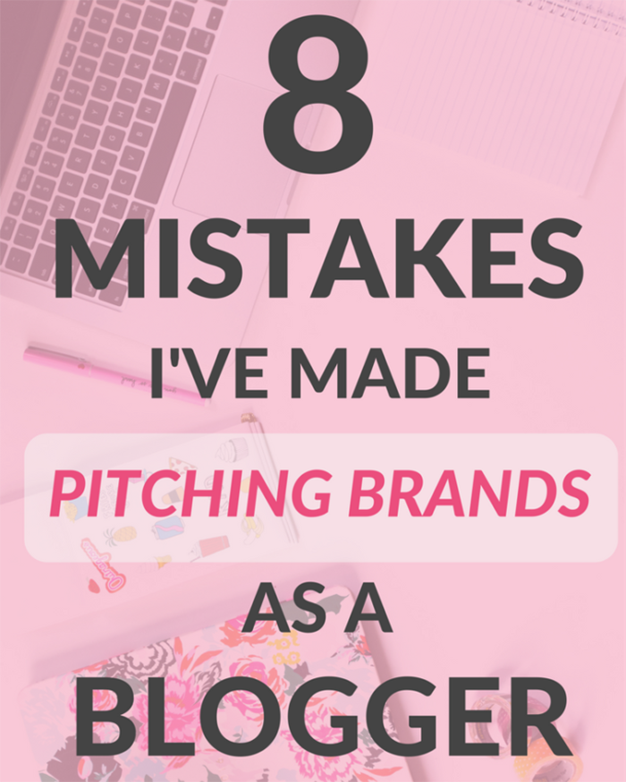 8 Mistakes I've Made Pitching Brands - The Blog Societies