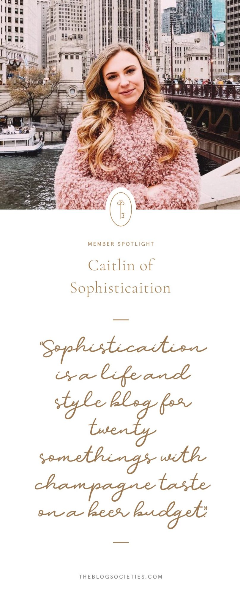 Caitlin of Sophisticaition, Chicago Blogger