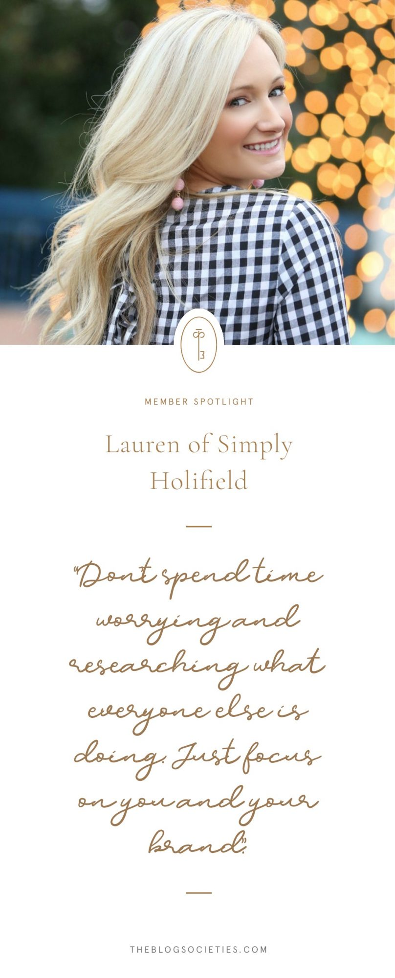 Lauren of Simply Holifield