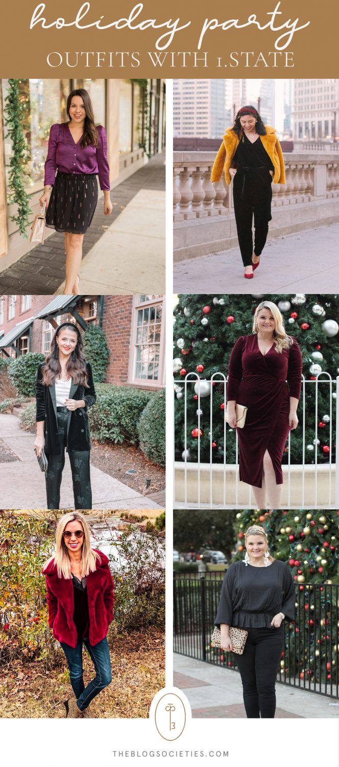 Holiday Party Looks with 1.STATE | The Blog Societies
