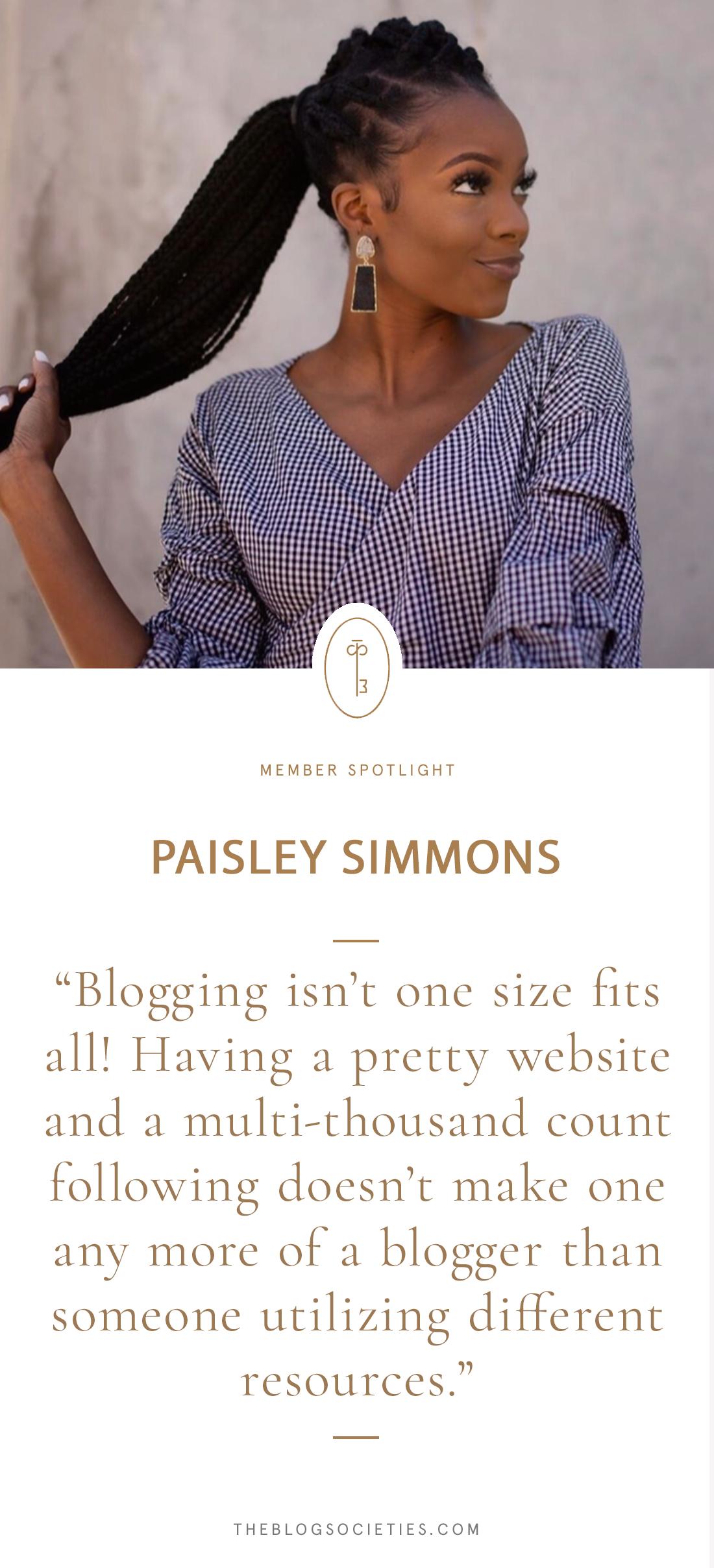 Member Spotlight: Paisley Simmons | The Blog Societies